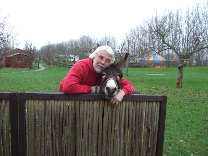 Alwin Burkhard und Esel Silas